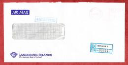 Luftpost, Einschreiben Reco, Landsbanki Islands, Freistempel Reykjavik 1985 (60190) - Lettres & Documents