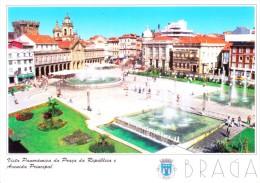 PORTUGAL PICTURE POST CARD - AVENIDA PRINCIPAL, BRAGA - Braga