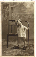 Enfant Fumeur De Pipe - Je Fais Comme Papa - Photo - Visage Souriant - 2 Scans - Enfants