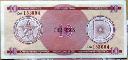Certificado De Divisa Letra D, DIEZ (10) PESOS, Carmelita (Exchange Certificate), 2da Edisión, UNC, CUBA - Cuba