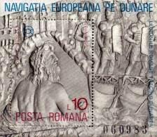 ROMANIA 1977 DANUBE NAVIGATION / ARCHAEOLOGY / SHIPS S/S MNH (3ALL) - 1948-.... Republics