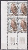 N°1694 Protection De La Nature:Le  Grand-Duc: En Bloc De 4 Timbres - France