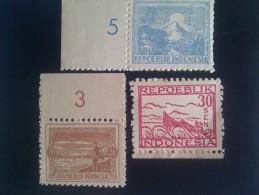 1946 INDONESIAN REVOLUTION**,YOGYAKARTA PRINT,PERF.,ON WHITE THICK PAPER. - Indonesien