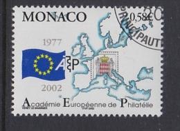 POSTAL HISTORY - EUROPEAN PHILATELY ACADEMY - MONACO 2002 MI 2598 Stamp On Stamps Maps Map Carte Karte - Oddities On Stamps