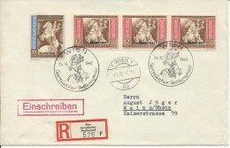 1942  Postkongress  Einschreiben Von Wien Nach Mainz   R-Zettel Europäischer Postkongress - Germany