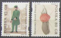 UPU - WORLD POST DAY - POLAND 1995  MNH FEATHER LETTER - POSTMAN Postal History - U.P.U.