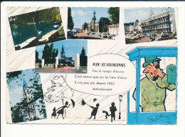 CPSM - Allo Ici Valenciennes / Il N'a Pas Plu Depuis 1883 / Humour Parapluie //  CP 8/853 - Valenciennes
