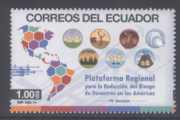 ECUADOR  ,2014,MNH, DISASTER REDUCTION,  1v - Protección Del Medio Ambiente Y Del Clima
