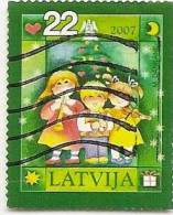 LATVIA - Christmas 2007 Used   Used X 1 Piece ~~ - Latvia