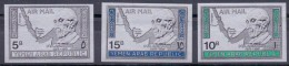 1968 YEMEN ARAB REPUBLIC KONRAD ADENAUER   Complete Set 3 Values Silver Paper Non-perforated   MIC 722-724    MNH - Yémen