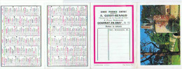 GOURNAY EN BRAY *PETIT CALENDRIER PUBLICITAIRE  Offert Par La Pharmacie A GUIOT RENAUD 1967  4 Volet - Calendriers