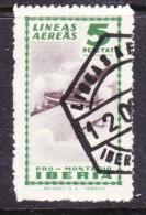 Spain: Mid 1940s PRO MONTEPIO IBERIA 5 Ptas , Used - Poste Aérienne