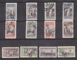 Spain: Officina De Tanger: Telegrafos - Espana 10,c 25c, 50c, 1Pts, 2Pta, 5Pts, X 2colours Each, Used Mid 1940s - Spaans-Marokko