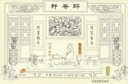 Macao 2000 Tea Rituals  Souvenir Sheet MNH - 1999-... Chinese Admnistrative Region