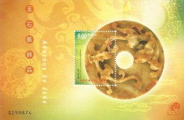 Macao 2001 Jade Ornaments  Souvenir Sheet MNH - 1999-... Chinese Admnistrative Region