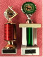 2 X Pokal Kaninchen-Zucht-Verein  -  Ca. 22 Cm Und 20 Cm Länge  -  Von Ca. 1980 - Vereinswesen