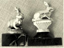 2 X Kleine Pokal Kaninchen-Zucht-Verein  -  Ca. 9,5 Cm Und 12 Cm Länge  -  Von Ca. 1975 - Vereinswesen