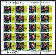 1996  AIDS Awareness  Sc 1603   Complete MNH Sheet Of 20 - Ganze Bögen