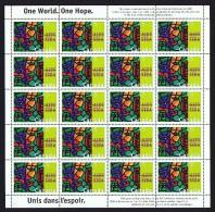 1996  AIDS Awareness  Sc 1603   Complete MNH Sheet Of 20 - Fogli Completi