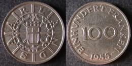 SARRE 100 Franken Ou Franc Sarrois 1954   SARRELAND Protectorat / Zone D'occupation Française En Allemagne   Port Offert - [ 8] Saarland