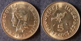 VANUATU  Nouvelles New HEBRIDES  5 Francs 1970   Port Offert - Colonies