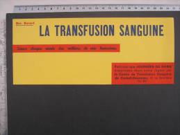 Buvard  LA TRANSFUSION SANGUINE - Journées Du Sang - Corbeil - Essonnes COULEUR JAUNE/ ORANGE - Blotters