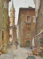 CPA COLORISEE TRES RARE DE ROME - ITALIE - Vecchie Case Del Vicolo Della Volpe - 1011 - - Roma (Rome)
