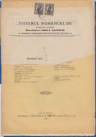 Rumänien; Wrapper 1913; Michel 220; Revista Viitorul Romancelor Nr. 1; 16 Seiten - 1881-1918: Charles I