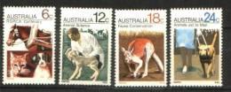 Australie Australia   439/442 ** 439/2 ** Societe Protectrice Des Animaux RSPCA Cheval Chat Chien Cat Dog Horse - 1966-79 Elizabeth II