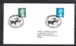 GRAN BRETAÑA.2006  ANIMALES DE LA ERA GLACIAL. RINOCERONTE  . CN 2607 - Prehistóricos