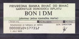 Banknote Of 1 DM BIHAC POCKET 1993 Uncirculated.Lot 2 - Bosnie-Herzegovine