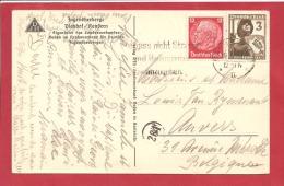 N°Y&T  444+591   ANZUGEBEN        Vers    BELGIQUE  Le      1937  2 SCANS - Alemania