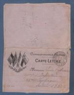 MILITARIA WW1 - CARTE LETTRE DATEE DE 1915 A LADOIX SERIGNY COTE D´OR VERS SECTEUR 123 / 210e D´INFANTERIE 23e COMPAGNIE - Dokumente