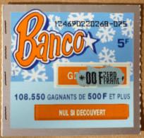 BANCO - FDJ FRANCAISE DES JEUX - SERIE 12469 - Billets De Loterie