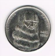 ¨ LEONARDO  DA VINCI 1452-1519 - MAJA DESNUDA  ( COPY ) - Pièces écrasées (Elongated Coins)