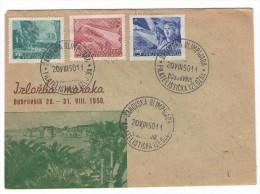 JUGOSLAVIJA YUGOSLAVIA DUBROVNIK 1950  IZLOŽBA MARAKA PHILATELIC EXHIBITION CHESS OLYMPIAD COVER ENVELOPE - Storia Postale