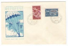 JUGOSLAVIJA YUGOSLAVIA SLOVENIJA SLOVENIA BLED PADALCI PADOBRANCI PARACHUTTING 1951  COVER ENVELOPE - Covers & Documents