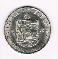 ¨ GUERNSEY  25 PENCE 1978  ROYAL VISIT  ( COPY ) - Elongated Coins