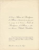 Comte Adrien De Borchgrave D'altena Charles Gendebien - Wedding