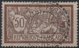 FRANCE 120c (o) Type Merson Sans Teinte De Fond Cachet LE FROMENTAL (Cher) Cote 100 € - 1900-27 Merson