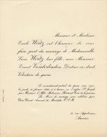 Lucie Wirtz Ernest Vanderlinden Docteur En Droit - Mariage