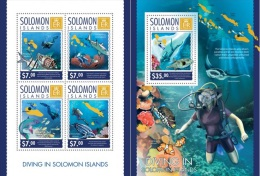 Salonom 2014, Fishes, Diving, 4val In BF +BF - Islas Salomón (1978-...)