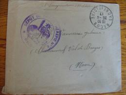 Lettre En F.M Hopital Temporaire 93 Macon Physiothérapie - Poststempel (Briefe)