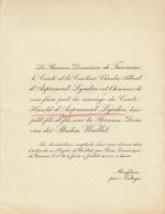 De Favereau Comte D'aspremont Lynden Baronne Van Der Straten Waillet Mouffrin Par Natoye - Mariage
