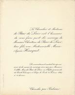 Chevalier De Beer De Laer Marie Hanquet Chanxhe Par Poulseur - Wedding