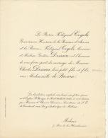 Baron Cogels Gouverneur Anvers Dessain De Browne Malines - Wedding