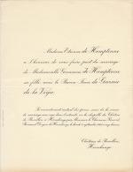 Germaine De Hemptinne Baron Jean De Garcia De La Vega Chateau De Rouillon Havelange - Wedding