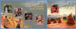 ca14103ab Central African 2014 Painting Impressionism Armand Guillaumin 2 s/s