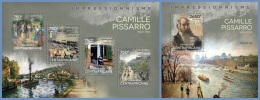 ca14105ab Central African 2014 Painting Impressionism Camille Pissaro 2 s/s