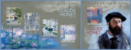 ca14107ab Central African 2014 Painting Impressionism Claude Monet 2 s/s